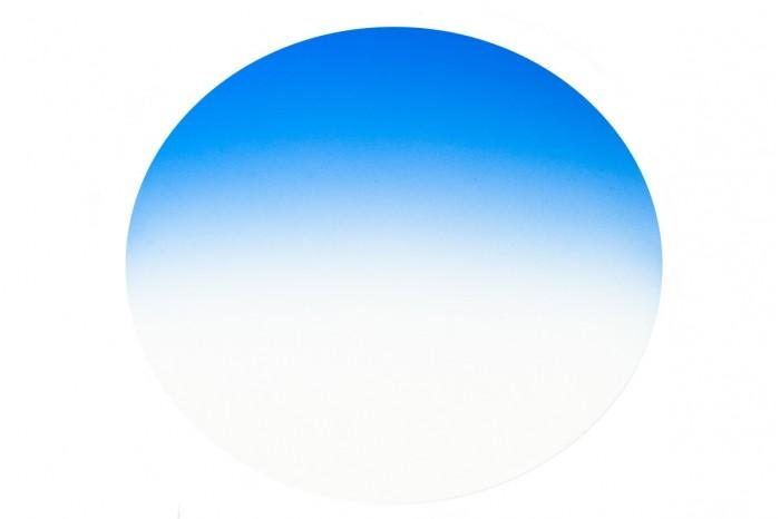 Pair of Cr39 CENTROSTYLE sun lenses Gradient blue